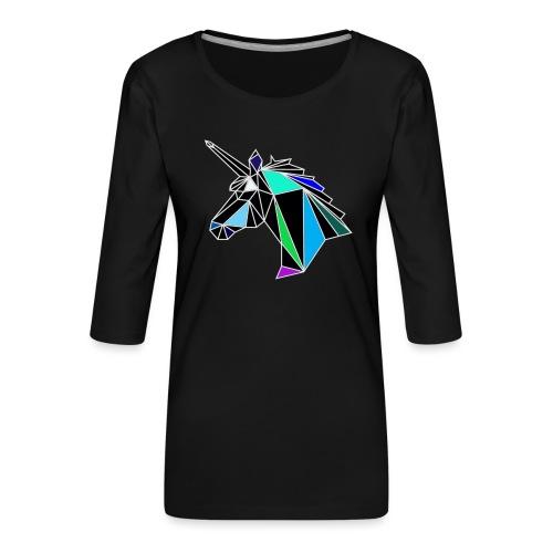 unicorno - Maglietta da donna premium con manica a 3/4