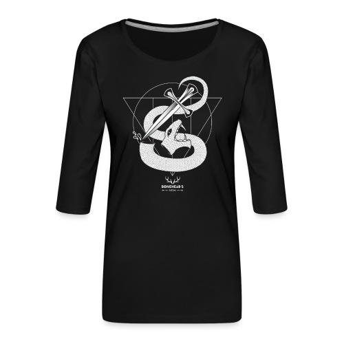 SNAKEHEAD - Women's Premium 3/4-Sleeve T-Shirt