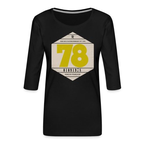 Vignette automobile 1978 - T-shirt Premium manches 3/4 Femme