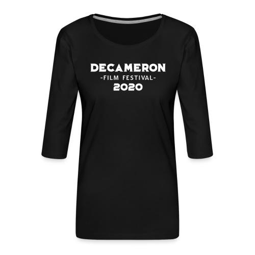 DECAMERON Film Festival 2020 (FRONT & BACK) - Women's Premium 3/4-Sleeve T-Shirt