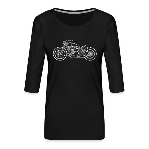 Bonneville Bobber Moto - T-shirt Premium manches 3/4 Femme