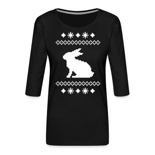 Norwegerhase hase kaninchen häschen bunny langohr - Frauen Premium 3/4-Arm Shirt