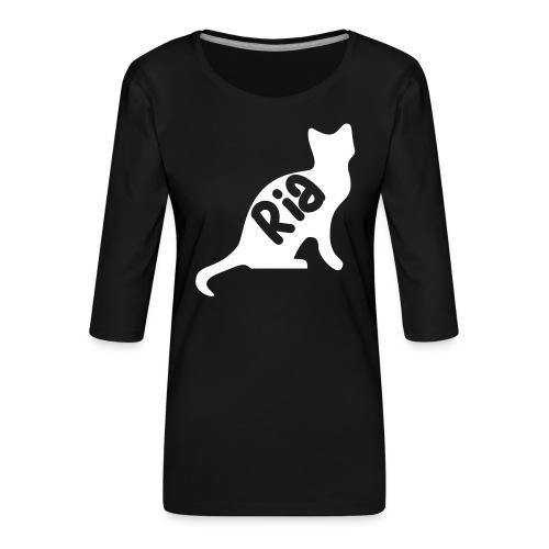 Team Ria Cat - Women's Premium 3/4-Sleeve T-Shirt
