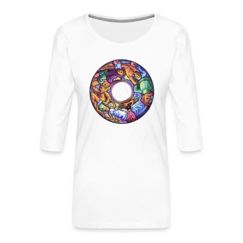 CD - Maglietta da donna premium con manica a 3/4