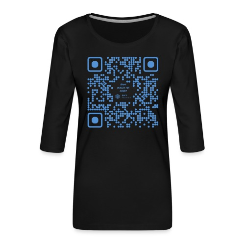 QR The New Internet Shouldn t Be Blockchain Based - Women's Premium 3/4-Sleeve T-Shirt
