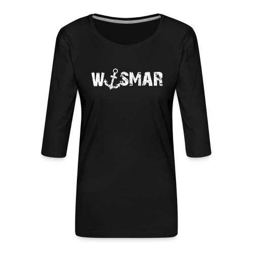 Wismar mit Anker - Frauen Premium 3/4-Arm Shirt