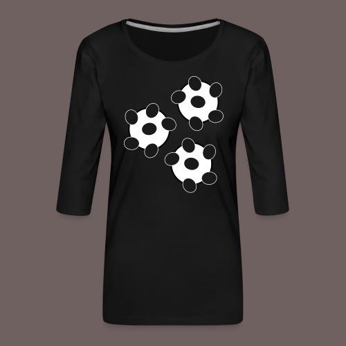GBIGBO zjebeezjeboo - Fun - Wiggle Wiggle 01 Noir - T-shirt Premium manches 3/4 Femme