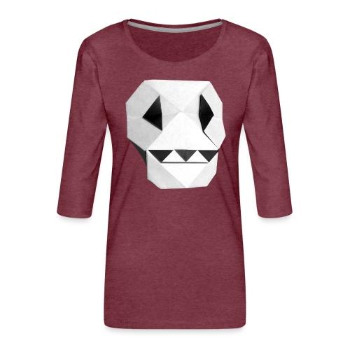Origami Skull - Skull Origami - Calavera - Teschio - Women's Premium 3/4-Sleeve T-Shirt