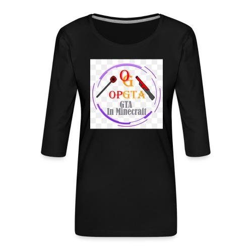 opgta logo - Naisten premium 3/4-hihainen paita