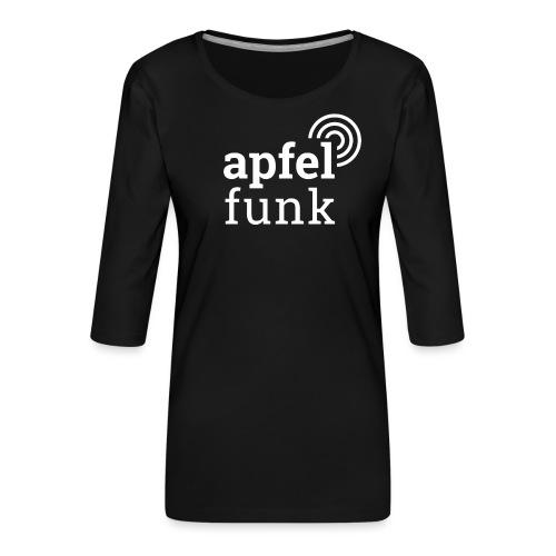 Apfelfunk Dark Edition - Frauen Premium 3/4-Arm Shirt