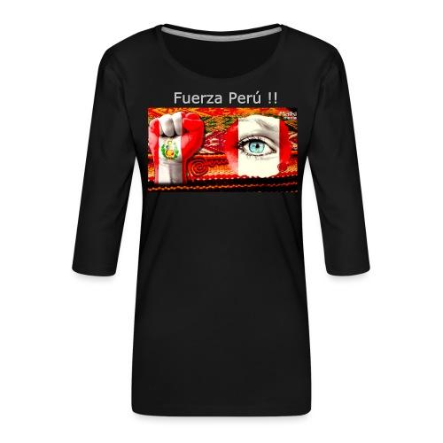 Telar Fuerza Peru I - T-shirt Premium manches 3/4 Femme