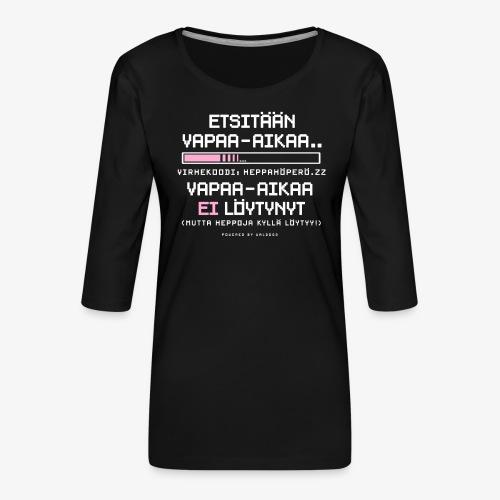 Heppahöperön Vapaa-aika - Naisten premium 3/4-hihainen paita