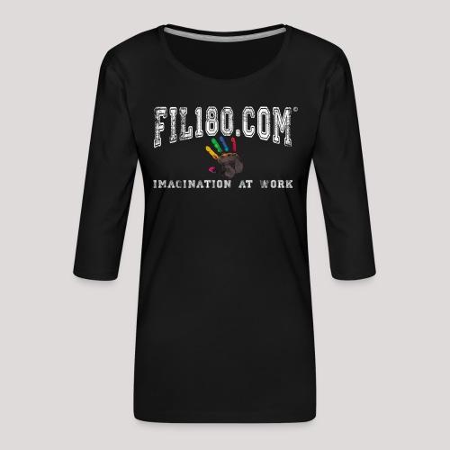FIL180 Hoody WHITE - Women's Premium 3/4-Sleeve T-Shirt