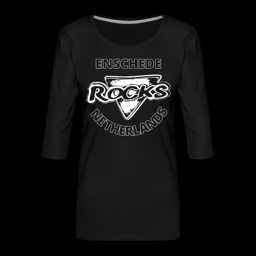 Rocks Enschede NL B-WB - Vrouwen premium shirt 3/4-mouw