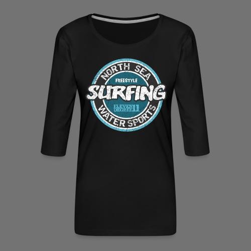 North Sea Surfing (oldstyle) - Koszulka damska Premium z rękawem 3/4
