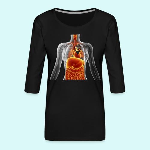 voues etes ici - T-shirt Premium manches 3/4 Femme