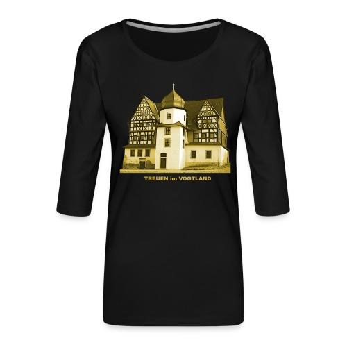 Treuen Schloss Vogtland Sachsen Treba - Frauen Premium 3/4-Arm Shirt