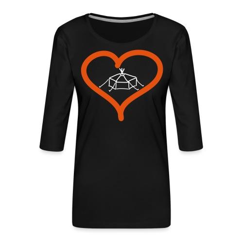 Herzjurte - Frauen Premium 3/4-Arm Shirt