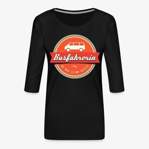 Busfahrerin Retro - Frauen Premium 3/4-Arm Shirt