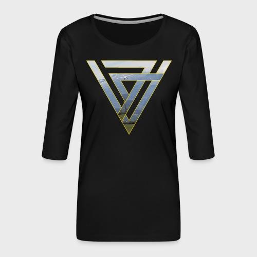 Triangle Plane - Frauen Premium 3/4-Arm Shirt