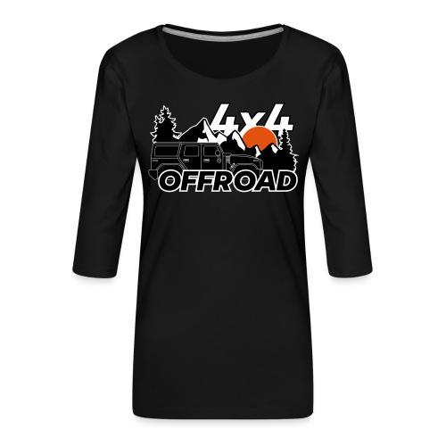 Offroad 4x4 Jeep Logo - Frauen Premium 3/4-Arm Shirt
