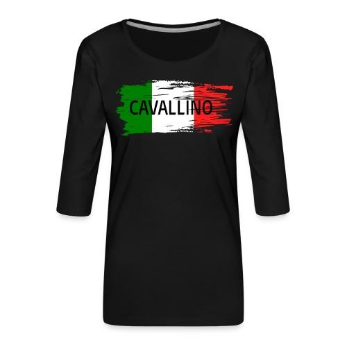 Cavallino auf Flagge - Frauen Premium 3/4-Arm Shirt