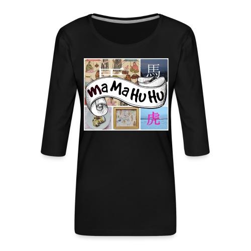 Ma ma hu hu / So-so phonecase - Naisten premium 3/4-hihainen paita