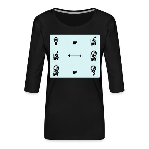 How to squat - Women's Premium 3/4-Sleeve T-Shirt