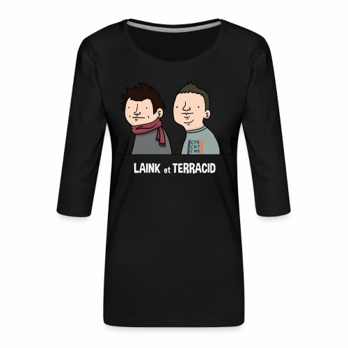 Laink et Terracid old - T-shirt Premium manches 3/4 Femme