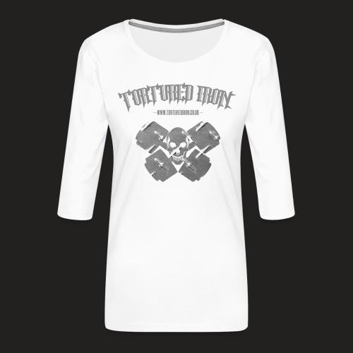 skull - Women's Premium 3/4-Sleeve T-Shirt
