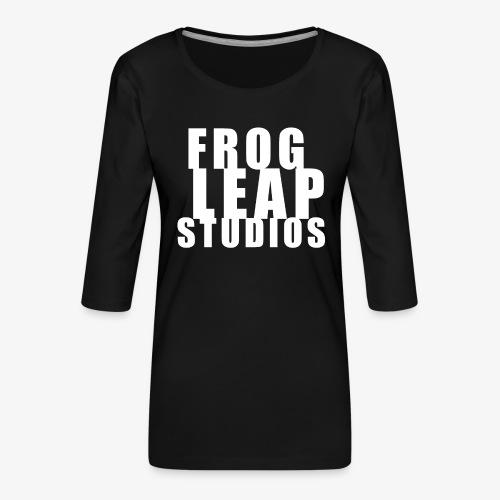 FLS Logo - Premium T-skjorte med 3/4 erme for kvinner