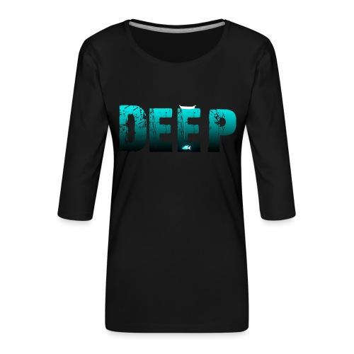 Deep In the Night - Maglietta da donna premium con manica a 3/4