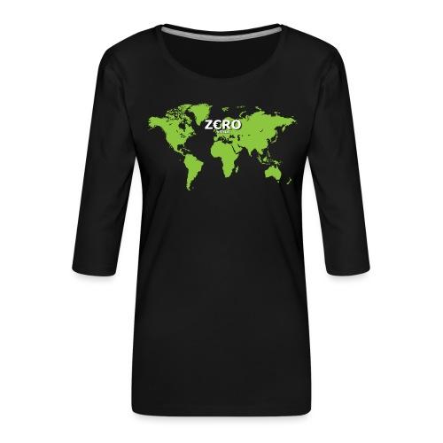 World Z€RO official - Women's Premium 3/4-Sleeve T-Shirt