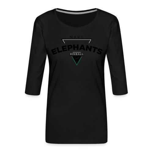 Triangle - T-shirt Premium manches 3/4 Femme