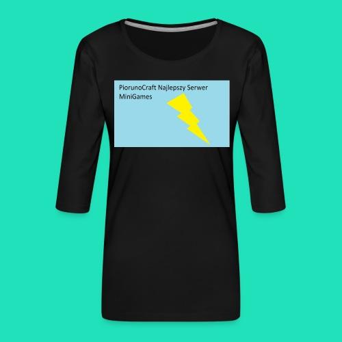 Koszulka Dla Dzieci PiorunoCraft - Koszulka damska Premium z rękawem 3/4