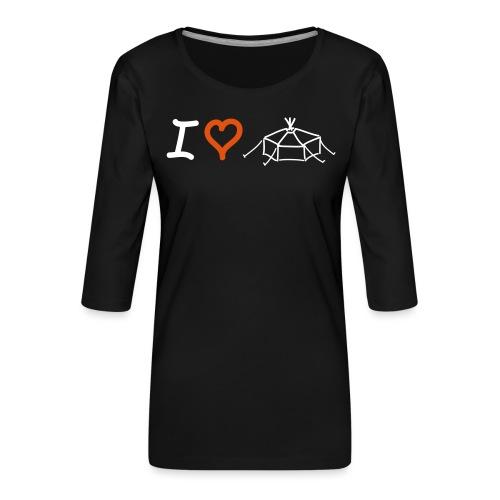 I love Jurte - Frauen Premium 3/4-Arm Shirt