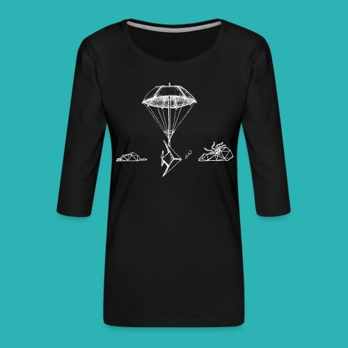 Galleggiar_o_affondare-png - Maglietta da donna premium con manica a 3/4