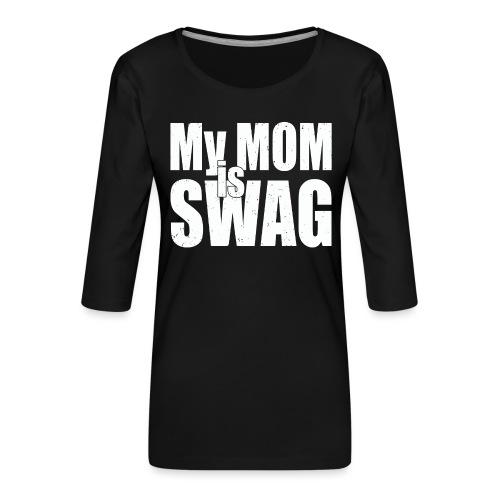 Swag White - Vrouwen premium shirt 3/4-mouw