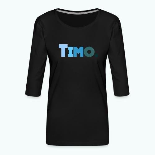 Timo in blauwe tinten - Vrouwen premium shirt 3/4-mouw