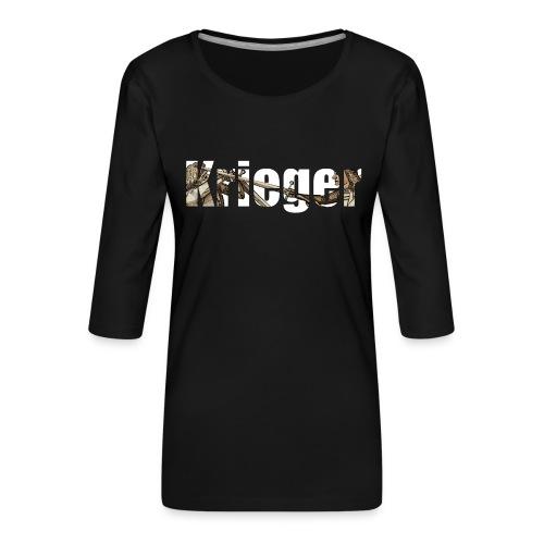 krieger - Frauen Premium 3/4-Arm Shirt