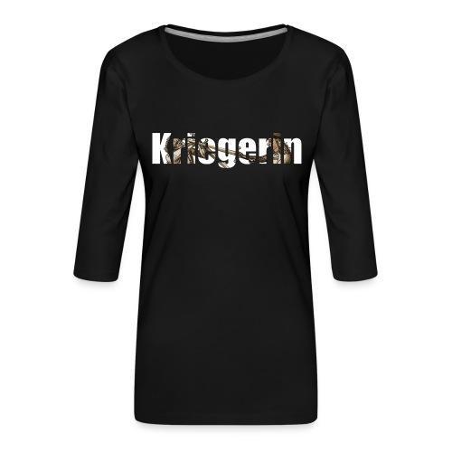 kriegerin - Frauen Premium 3/4-Arm Shirt