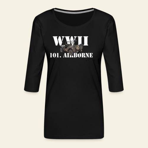 101 airborne png - Dame Premium shirt med 3/4-ærmer