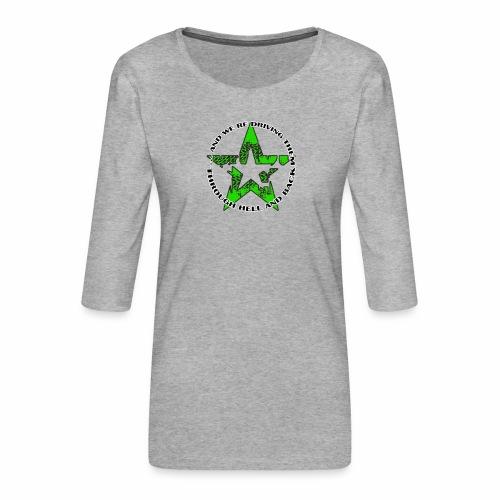 ra star slogan slime png - Frauen Premium 3/4-Arm Shirt