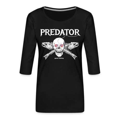 gone fishing norge - Frauen Premium 3/4-Arm Shirt