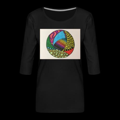circle corlor - Dame Premium shirt med 3/4-ærmer