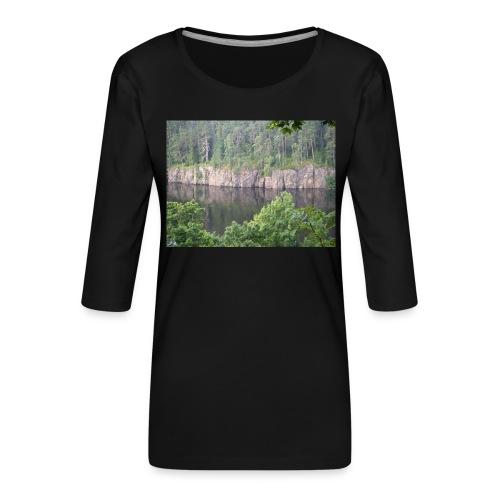 Laatokan maisemissa - Naisten premium 3/4-hihainen paita