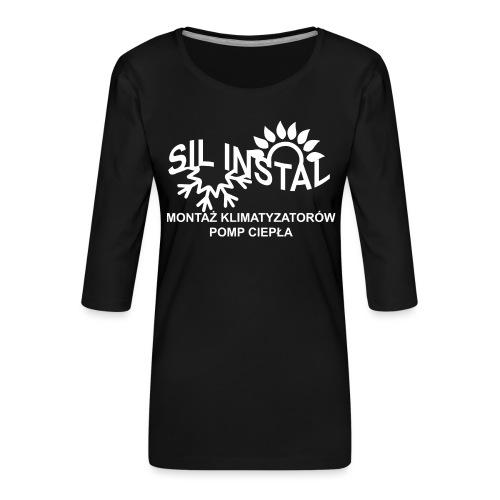 sil instal - Koszulka damska Premium z rękawem 3/4