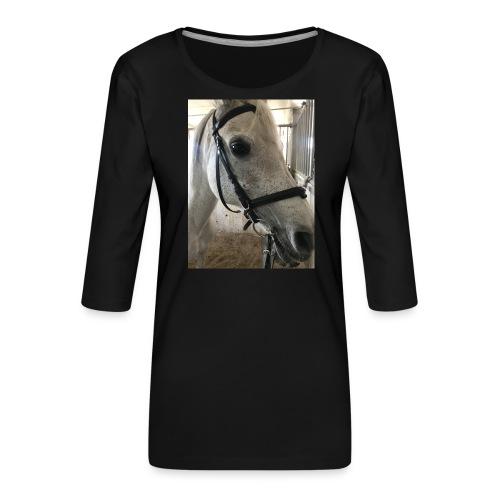 9AF36D46 95C1 4E6C 8DAC 5943A5A0879D - Premium T-skjorte med 3/4 erme for kvinner
