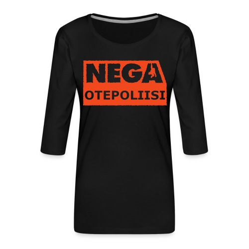 OtePoliisi pinssi iso - Naisten premium 3/4-hihainen paita