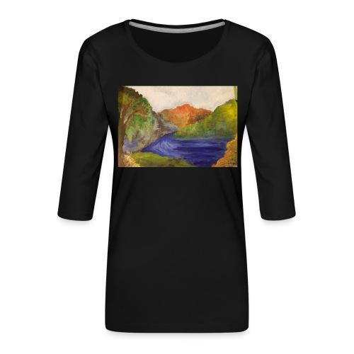 flo 1 - Women's Premium 3/4-Sleeve T-Shirt
